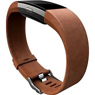Fitbit Charge 2 Band Leather Brown Large - Strap