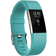 Fitbit Charge 2 Small Silver Teal - Fitness Bracelet -