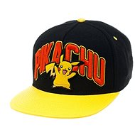 Pokémon Pikachu Black Snapback With Yellow Bill - Cap