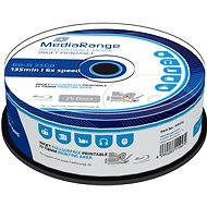 MediaRange BD-R (HTL) 25GB, Inkjet Printable, 25ks cakebox - Media