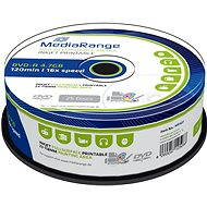 MediaRange DVD-R Inkjet Fullsurface Printable 25pcs cakebox - Media