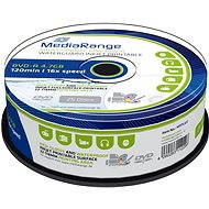 MediaRange DVD-R Waterguard Inkjet Fullprintable 25pcs cakebox - Media