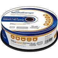 MediaRange DVD+R Inkjet Fullsurface Printable 25pcs cakebox - Media