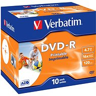 Verbatim DVD-R 16x, Printable 10pcs in a box - Media