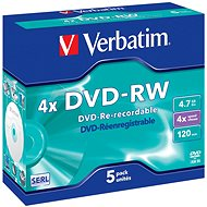 Verbatim DVD-RW 4x, 5pcs in a box - Media
