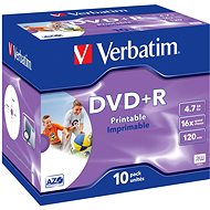 Verbatim DVD + R 16x, Printable 10pcs in a box - Media