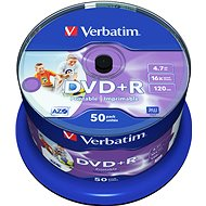 Verbatim DVD+R 16x 50pcs Cake Box - Media