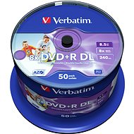 Verbatim DVD + R 8x, Dual Layer Printable 50pcs cakebox - Media