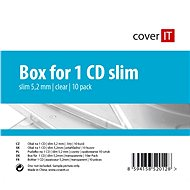 Box for 1 pc slim - clear (transparent), 5.2 mm, 10pack - CD Case