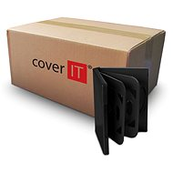 Box of 6 pieces - black, 24mm - DVD Case