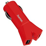 Hama Color Line USB AutoDetect 3.4A, red - Car charger