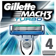 GILLETTE Mach3 Turbo 4 pieces of spare heads - Men's shaver replacement heads