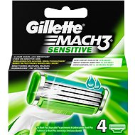 GILLETTE Mach3 Sensitive - 4 pieces of spare heads - Men's shaver replacement heads