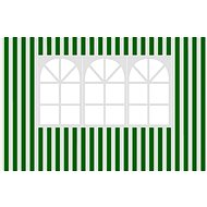 Vetro-Plus Sidewalk to garden gazebo with window, stripes - Side panel