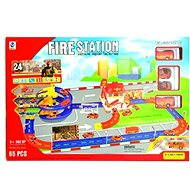 Fire station with a track - Play Set
