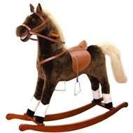 Bino Large plush rocking horse - brown - Swing