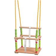 Woody Wooden swing with a fence - Swing