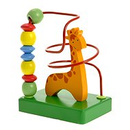 Woody Motorbike Labyrinth - Giraffe - Didactic Toy