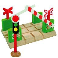 Woody Railroad Accessories - Crossing with Barriers - Train Tracks Accessories