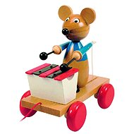 Woody Pulling mouse with xylophone - Push and Pull Toy