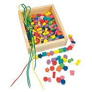 Woody Slip-on beads in a box - Didactic Toy
