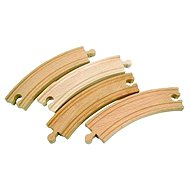 Woody Track Accessories - Long bends - Train Tracks Accessories
