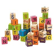 Woody Blocks with Letters and Numbers - Play Set
