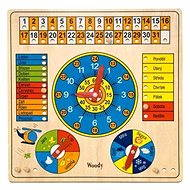 Woody Calendar with clock and barometer - Educational Toy
