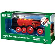 Brio - Mighty Red Action Locomotive with lights - Toy Train