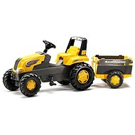 Rolly Junior pedal tractor with farm trailer - yellow - Pedal Tractor