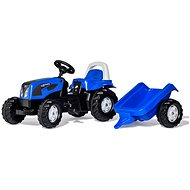 Rolly Kid Landini pedestrian tractor with blue tow - Pedal Tractor