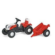 Rolly Kid Steyer Roller Tractor with Stern - Red - Pedal Tractor