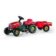 Rolly Kid pedal tractor with trailer - red - Pedal Tractor