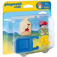 Playmobil Worker with Wheelbarrow 6961 - Toddler Toy