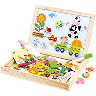 Bino Farm Magnetic Table with Puzzles - Magnetic Building Set