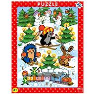 Dino A little boy in the snow - Puzzle