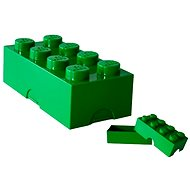 LEGO Box for snack 100 x 200 x 75 mm - dark green - Snack box