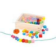 Wooden threading beads in a box - Creative Kit