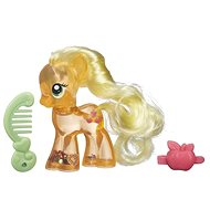 My Little Pony - Transparent pink Apple Jack with glitter and accessory - Figure