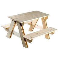 Wooden table set + bench - Play Set