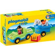 PLAYMOBIL1.2.3 ® 6958 Car with Horse Trailer - Building Kit
