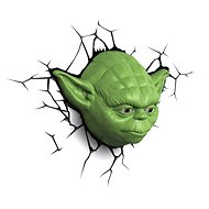 Star Wars Yoda 3D Wall Light With Remote Control - Lighting for children's rooms
