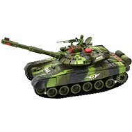 Tank with a charging pack - Green - RC Model