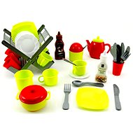 Dishwasher with dishes and accessories - Play Set