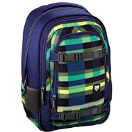 Hama All Out Selby Backpack Summer Check Green - School Bag