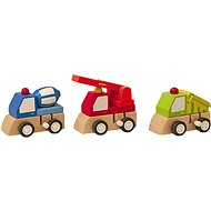Woody Towing vehicle - construction machinery - Didactic Toy