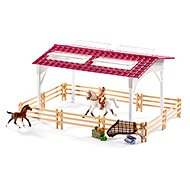 Schleich Stable with horses and accessories in pastel colours - Play Set