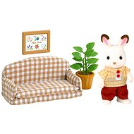 Sylvanian Families Chocolate rabbit furniture - Daddy on the sofa - Play Set