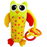 Rappa Baby Owl with Rings - Baby Rattle
