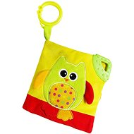 Rappa Book baby owl with clip - Toddler Toy